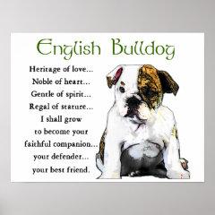 English Bulldog Gifts print
