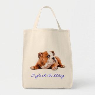 English Bulldog Grocery Tote Bag