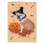 English Bulldog Halloween Greeting Card