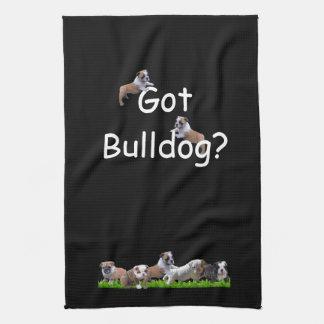 English Bulldog Hand Towel
