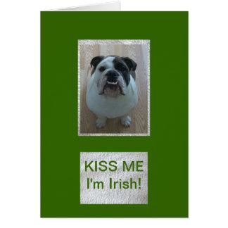 English Bulldog Happy St. Patrick's Day card!