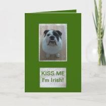 English Bulldog Happy St. Patrick's Day card! Card