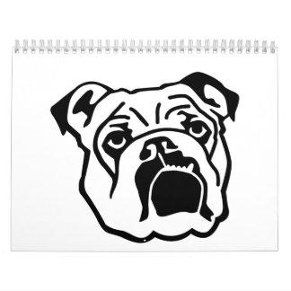 English Bulldog head Wall Calendar