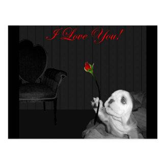 English Bulldog I Love You! Post Card