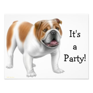 English Bulldog Invitation