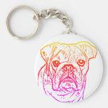 English bulldog keychain
