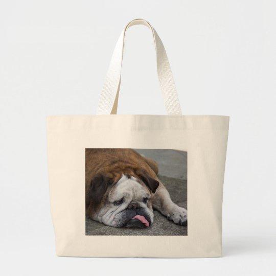 English bulldog large tote bag