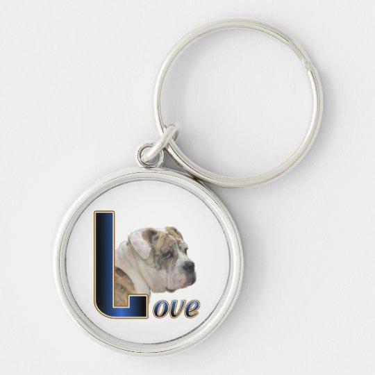 English Bulldog Love Keychain