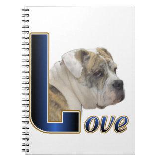 English Bulldog Love Spiral Notebook