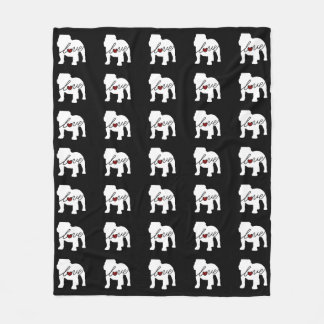 English Bulldog Loveq Fleece Blanket