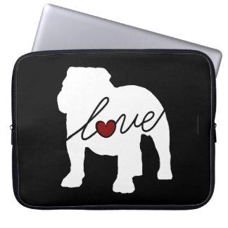 English Bulldog Loveq Laptop Sleeve