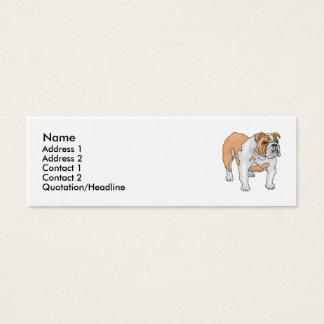 English Bulldog Mini Business Card