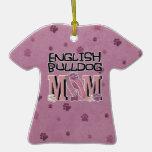 English Bulldog MOM Christmas Tree Ornament