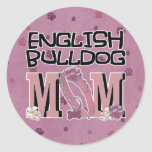 English Bulldog MOM Classic Round Sticker