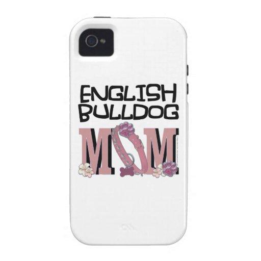 English Bulldog MOM iPhone 4 Covers