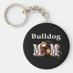 English bulldog mom Keychain