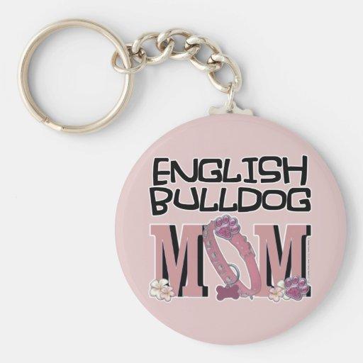 English Bulldog MOM Keychains