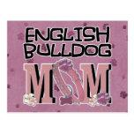 English Bulldog MOM Postcard