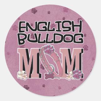 English Bulldog MOM Stickers