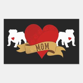 English Bulldog Mom [Tattoo style] Stickers