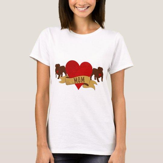 English Bulldog Mom [Tattoo style] T-Shirt