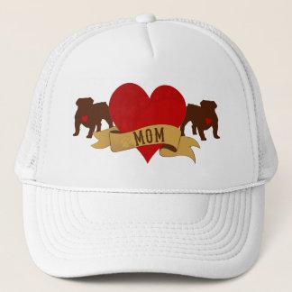 English Bulldog Mom [Tattoo style] Trucker Hat