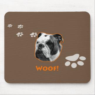 English Bulldog Mousepad Woof