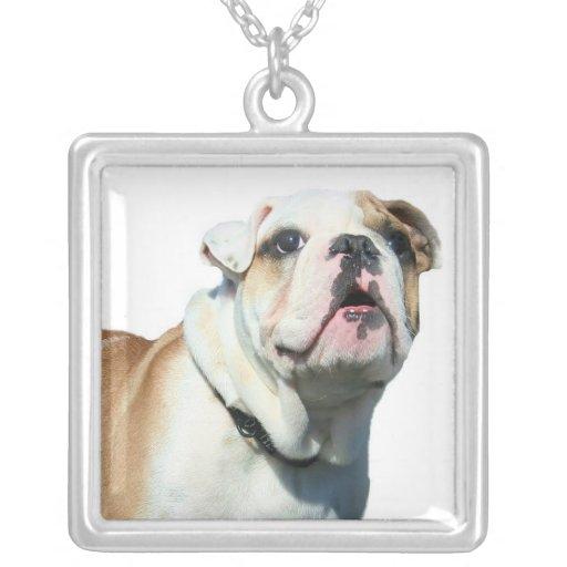 English bulldog personalized necklace