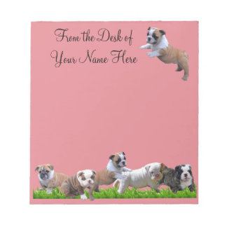 English Bulldog Notepad