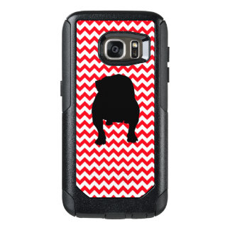 English Bulldog on Fire Truck Red Chevron OtterBox Samsung Galaxy S7 Case