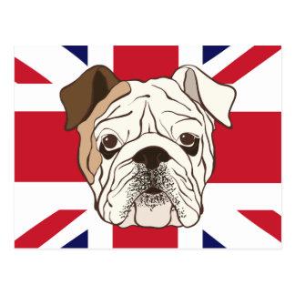 English Bulldog on Union Jack Postcards