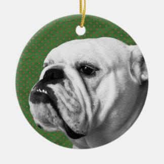English Bulldog Christmas Tree Ornament