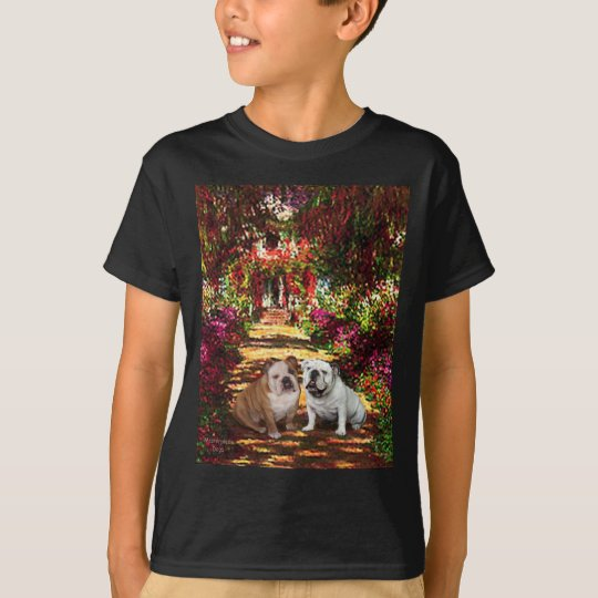 English Bulldog Pair - The Path T-Shirt