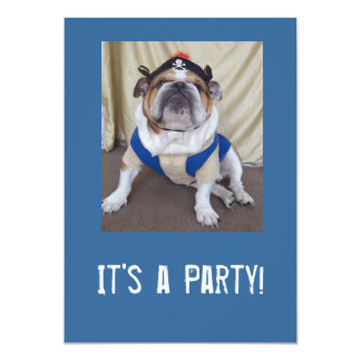 English Bulldog Party Invitations