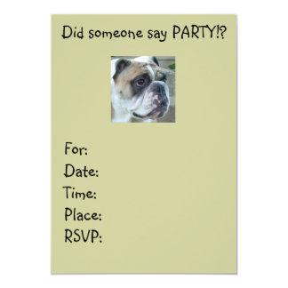 English Bulldog Party Invitations any occasion