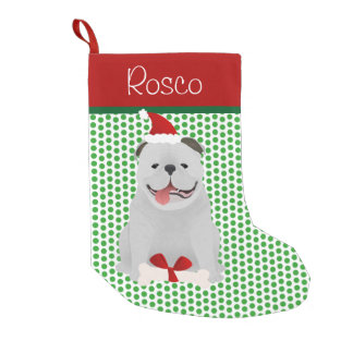 English Bulldog Personalized Small Christmas Stocking