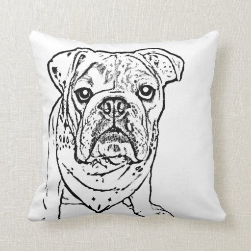 English Bulldog Pillow Zazzle