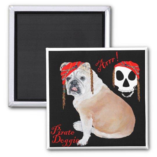 English Bulldog Pirate Magnet