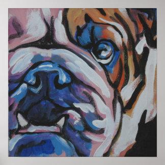English Bulldog Pop Art Poster Print
