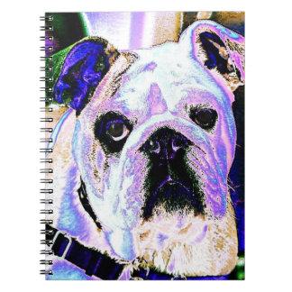 English Bulldog Pop Art Spiral Notebook