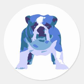 English Bulldog Pop Art Round Sticker