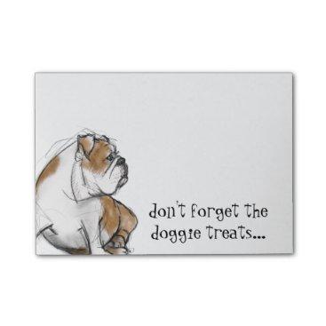 Windword_Arts English Bulldog Post-it Notes