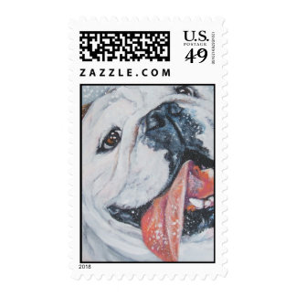 English Bulldog postage stamp