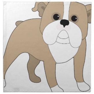 English Bulldog Printed Napkin