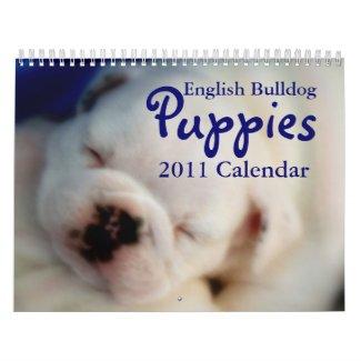 English Bulldog Puppies 2011 Calendar calendar