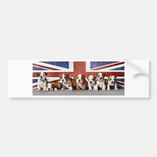 English bulldog puppies bumper sticker