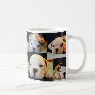 English Bulldog Puppies Collage Coffee Mug