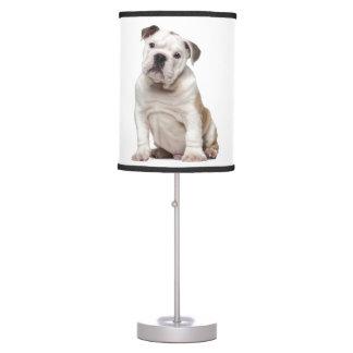 English bulldog puppy (2 months old) desk lamp