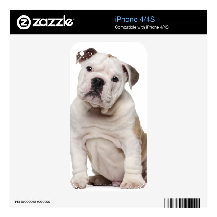 English bulldog puppy (2 months old) skins for the iPhone 4S