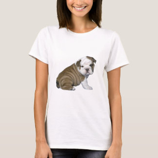 English Bulldog Puppy (brown-white) T-Shirt